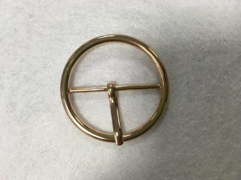 přezka opasková*š.38mm kulatá zlatá