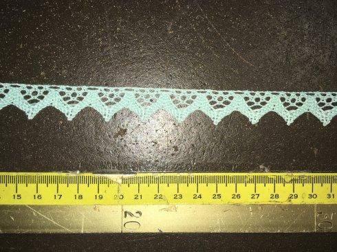 krajka 100%bavlna 16mm paličkovaná mentolová