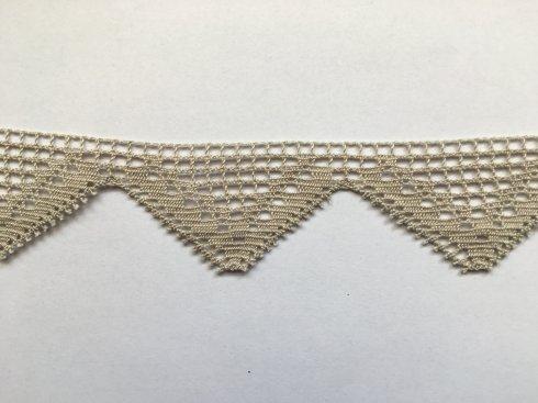 krajka 100% bavlna 45mm paličkovaná béžová