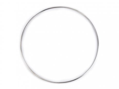 pro lapač snů kovový kruh 25cm nikl