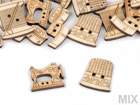 knoflík dřevěný šicí potřeby různé