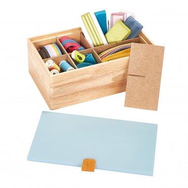 dřevěný box na šicí potřeby 25x15x9cm