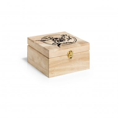 dřevěný box na šicí potřeby 18x18x10cm přírodní