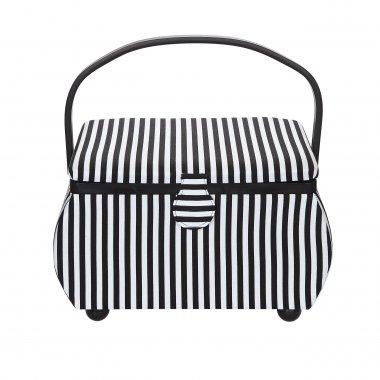 kazeta - košík na šicí potřeby L stripes