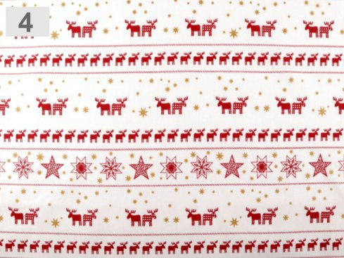 látka vánoční š.140,100%bavlna
