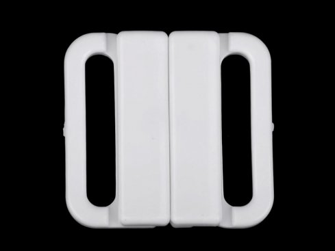 zapínání plavkové bílé 2ks  š.25mm