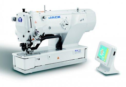 Jack JK-T1792BS-M elektronický dirkovací šicí stroj s odsřihem a posekem.Servomotor