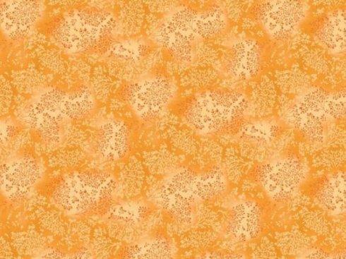 látka 140cm šíře/100%bavlna bylinky žlutooranžová