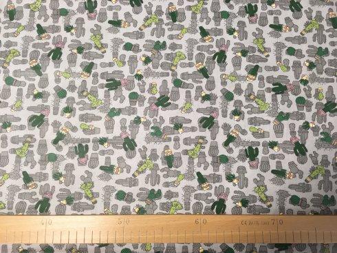 látka 140cm šíře/100%bavlna kaktusy