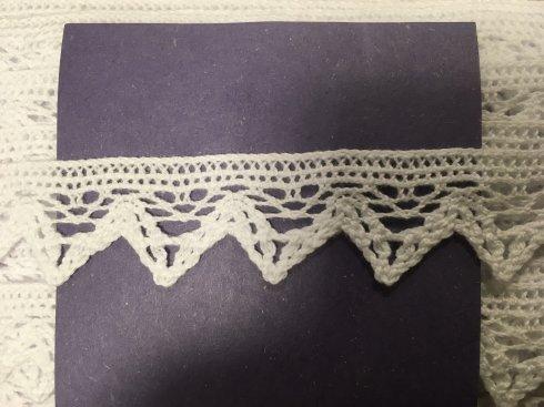 krajka 100% bavlna paličkovaná bílá 23mm