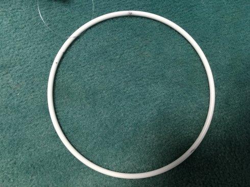 pro lapač snů kovový kruh 10cm bílý