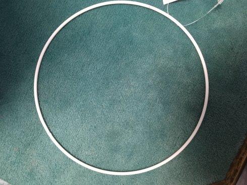 pro lapač snů kovový kruh 18cm bílý