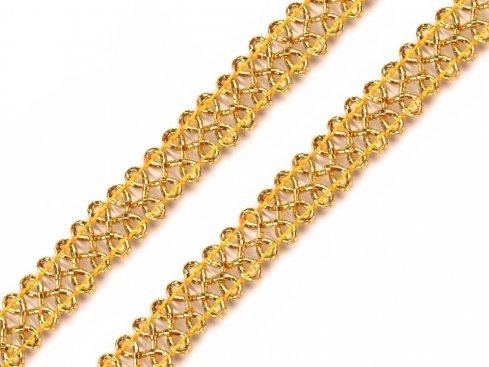 prýmek leonský 9mm zlatý/stříbrný