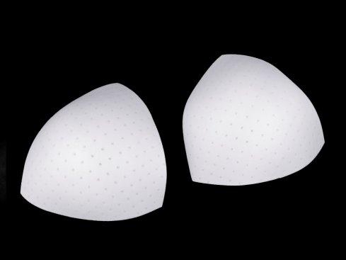 košíčky do plavek trojúhelník velikost M bílé