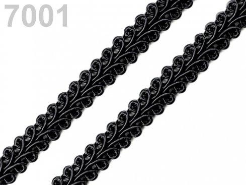 prýmek šíře 10mm/balení 25m černý