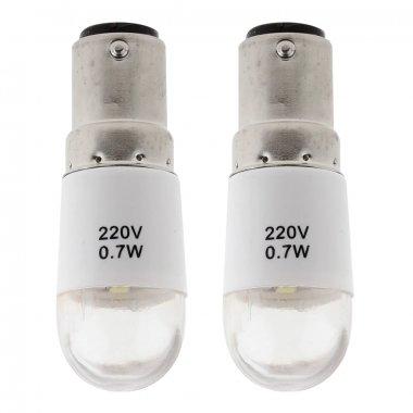Žárovka LED bajonet, patice B15 240V/0,7W 3-5led