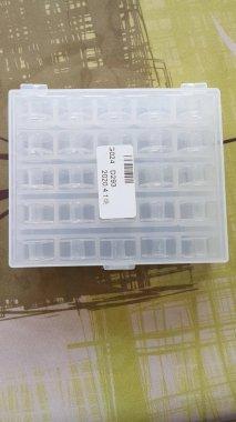 krabička plastová (box) na cívky - 25ks plná cívek kovová pro CB chapače