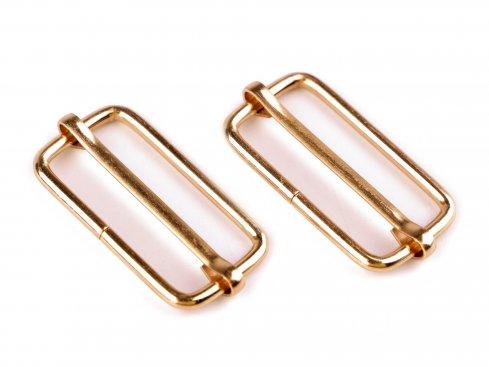 posunovač na popruhy 30mm mosaz=zlatý