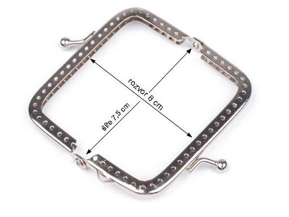 zapínání kov.rámeček 4,5x7,5 našít-