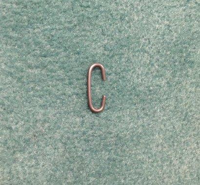 spojka řemínku kovová - pérový drát