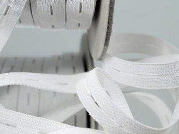 guma dírková-režná bílá šíře 18mm
