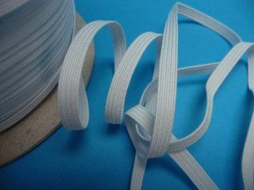guma prádlová 12mm bílá
