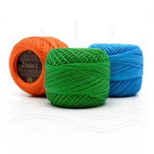 vyšívací / háčkovací příze - perlovka COATS PUPPETS PERLE 10g