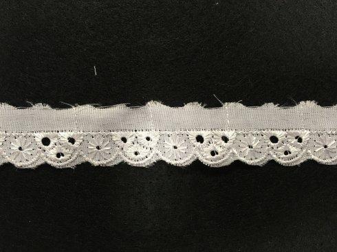 štykování 100%polyester 10mm bílé