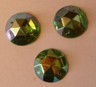 štrasové kameny meruňka velké 3ks 20mm