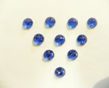 štrasové kameny modré/zelené! malé 10ks