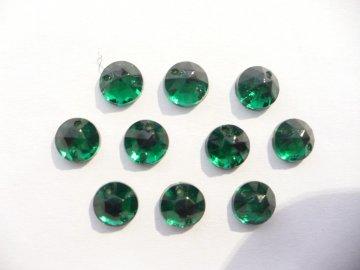 štrasové kameny zelené malé 10ks