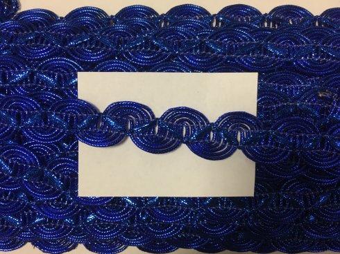 prýmek leonský smyčky 20mm modrý