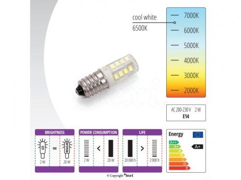 žárovka E14 závit 240V/2W LED-šicí stroje Veritas,Lada