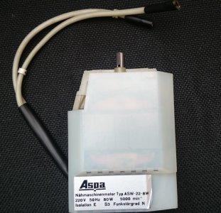 motor ASW 22-8W 220V/80W - vnitřní 2 vývody, Veritas-Famula