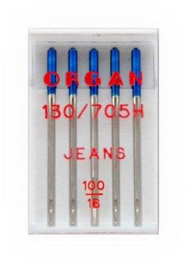 jehla 130/705H Jeans 100 5ks Organ