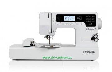 šicí a vyšívací stroj Bernette Chicago 7 + výšivky ZDARMA