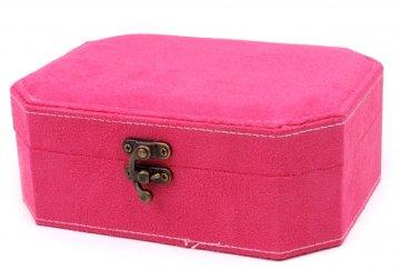 šperkovnice 7x15x20cm růžová