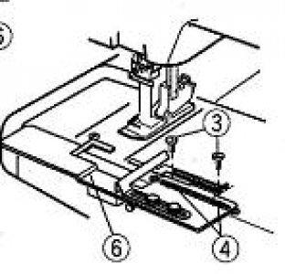 Zakladač pro obrubování velký pro Janome 1000 CPX-