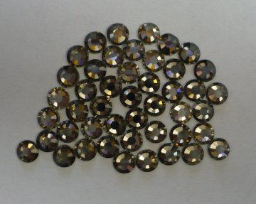 4mm-SS16 kameny nalepovací jet hematite