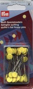 špendlíky s kytičkou pro quilt 50mm