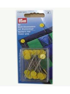 špendlíky s kytičkou pro quilt 50mm-