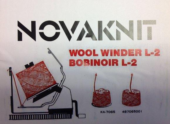 navíječ příze L2 ruční Novaknit-Jumbo TH-7065 na 300-500g-