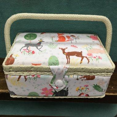 košík na šicí potřeby lesní zvířata S