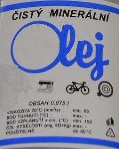 olej minerální čirý-75ml+olejnička-
