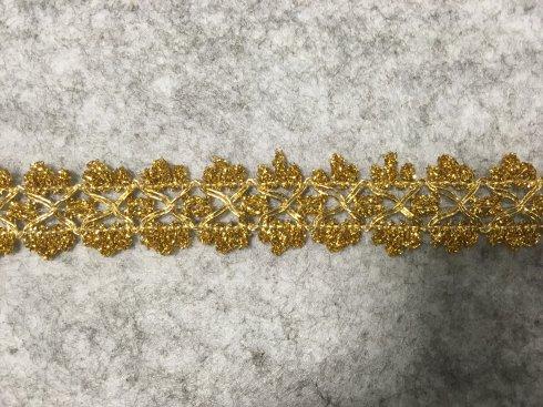 prýmek leonský 25mm zlatý/stříbrný