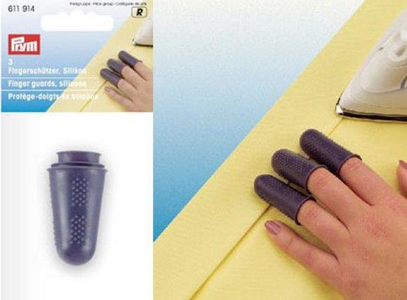 chrániče prstů při žehlení silikonové 3ks, vhodné při žehlení sámků, švů, sežehlování šikmých proužků a pod.-