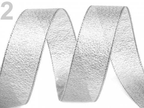 stuha rexonová zlatá/stříb š.20mm