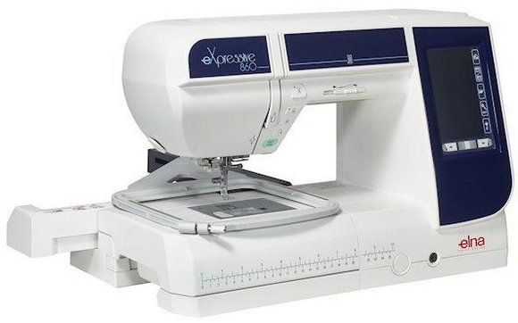 šicí a vyšívací stroj Elna 860 eX + vyšívací software Digitizer Ex Jr. ZDARMA-