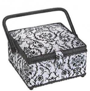 košík na šicí potřeby Black-White