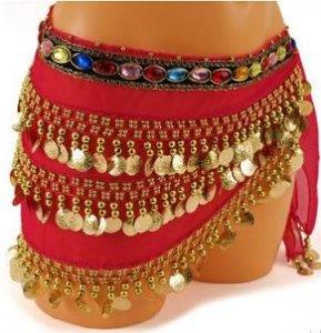 šátek s penízky 26x140cm 3řady